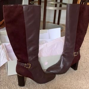 Like New - Bandolino wine suede & leather boot